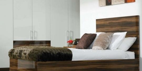 high gloss plum prunus bedroom