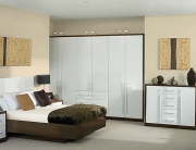 high gloss white bedroom